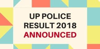 UP Police result 2018 announced