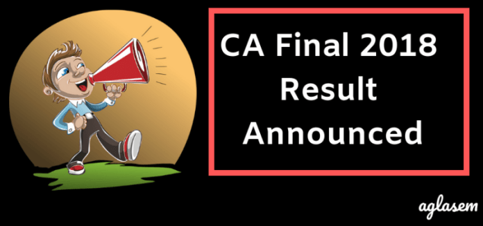 CA Final 2018 Result Announced
