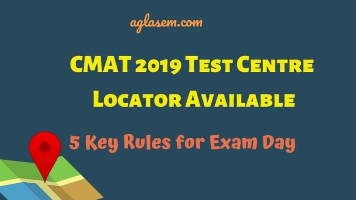 CMAT 2019 Test Centre Locator Available