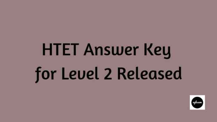 HTET Answer Key for Level 2 Released