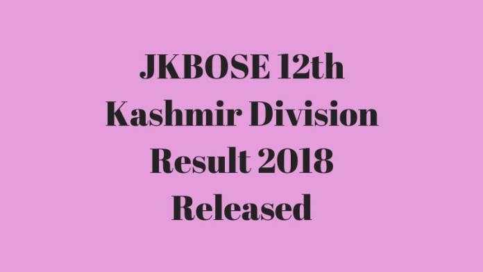 JKBOSE 12th Kashmir Division Result 2018 Released