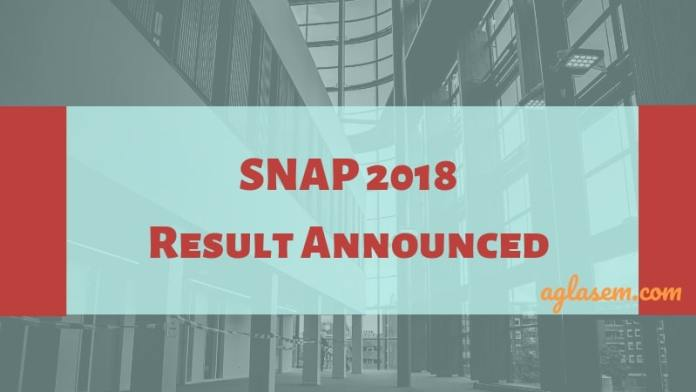 SNAP 2018 Result Announced