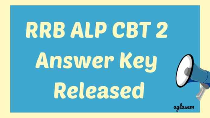 RRB ALP CBT 2 Answer Key Released