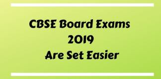 CBSE Board Exams 2019 Are Set Easier