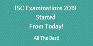 ISC Examinations 2019 Started From Today