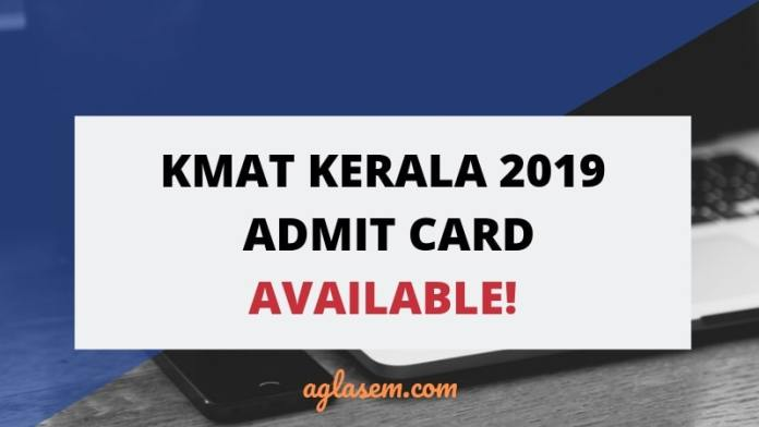 KMAT Kerala 2019 Admit Card Available
