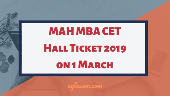 MAH MBA CET Hall Ticket 2019 on 1 March
