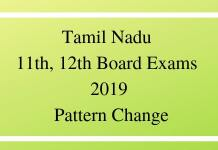 Tamil Nadu 11th, 12th Board Exams 2019 Pattern Change