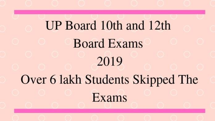 UP Board 10th and 12th Board Exams 2019 Over 6 lakh Students Skipped The Exams