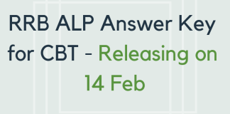 RRB ALP Answer Key for CBT