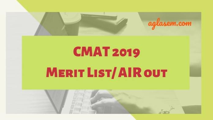 CMAT 2019 AIR Released