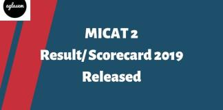 MICAT-II 2019 Result Released