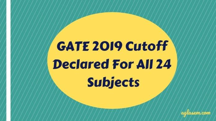 Gate Results 2019 Twitter: GATE 2019 Cutoff Declared For All 24 Subjects; Check Here