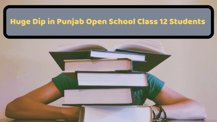 Huge Dip in Punjab Open School Class 12 Students