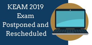 KEAM 2019 Exam Postponed and Rescheduled