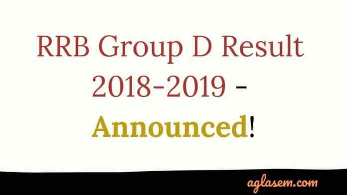 RRB Group D Result 2018-2019 Announced
