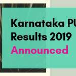 Karnataka PUC Results 2019 Announced