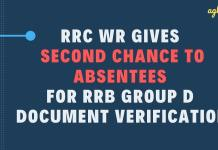 RRC WR Gives Second Chance to Absentees for Group D Document Verification Aglasem