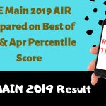 JEE Main 2019 AIR Prepared on Best of Jan & Apr Percentile Score