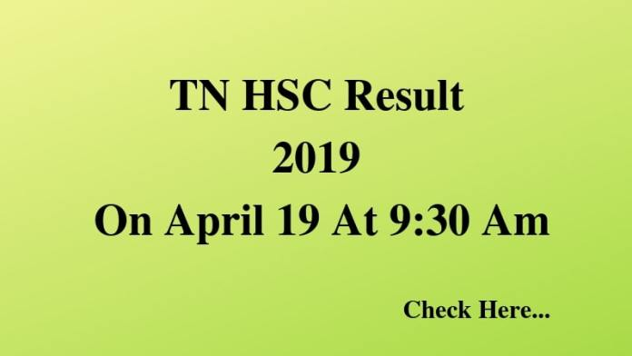 TN HSC Result 2019 On April 19 At 9_30 Am