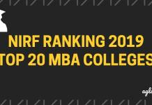 Top 20 MBA Colleges In NIRF Ranking 2019