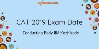 CAT 2019 Exam Date and Conducting body