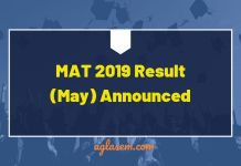 MAT 2019 Result Announced