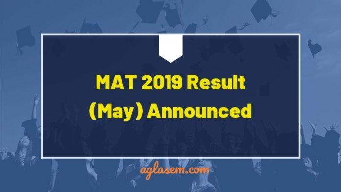 MAT 2019 Result Announced