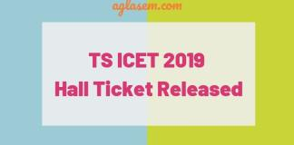 TS ICET 2019 hall ticket