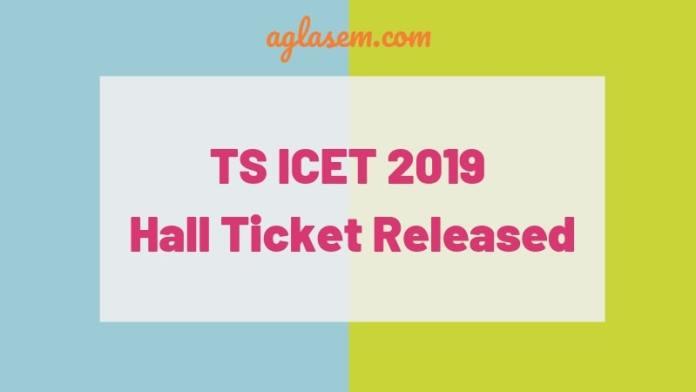 TS ICET 2019 hall ticket