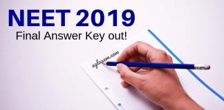 NEET 2019 Final Answer Key