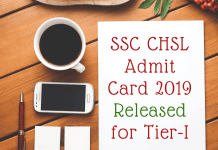 SSC-CHSL-Admit-Card-2019-Released-for-Tier-I-Aglasem