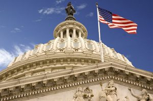 United States Capitol Dome and Flag. Credit David Maiolo/Wikicommons