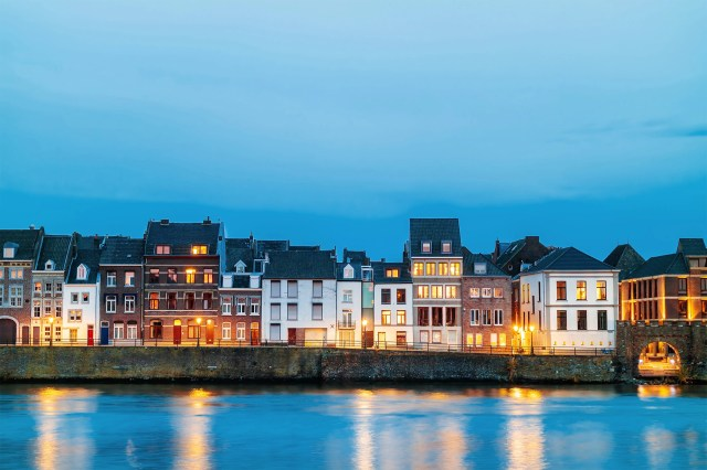 View at the east side of the city of Maastricht in the Netherlands.