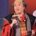 台灣卡普空董事長兼總經理越知雄一以《鬼武者魂》內幻魔陣營角色「齋藤道三」裝扮