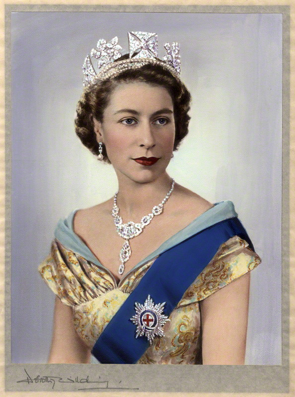 Image result for paintings of queen elizabeth second