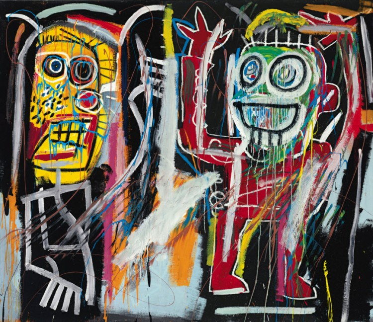 讓·米歇爾·巴斯奎特(Jean-Michel Basquiat),《塵土飛揚》(Dustheads,1982年)。 由佳士得影像有限公司提供。