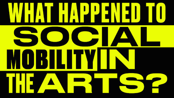 "Banner image for the study ""Panic! What Happened to Social Mobility in the Arts?,"" by Create in association with Goldsmiths, University of London, University of Sheffield, and the London School of Economics"