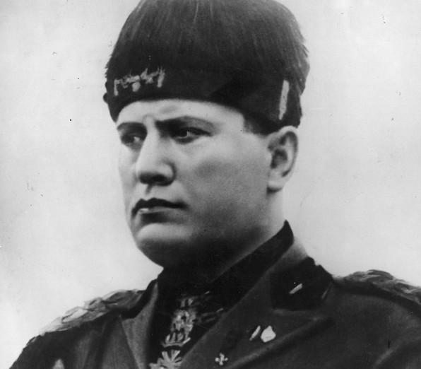 Mussolini Black Pictures And Benito White