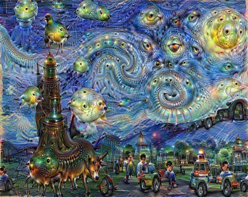 A Vincent van Gogh-inspired Google Deep Dream painting. Photo: courtesy Google.