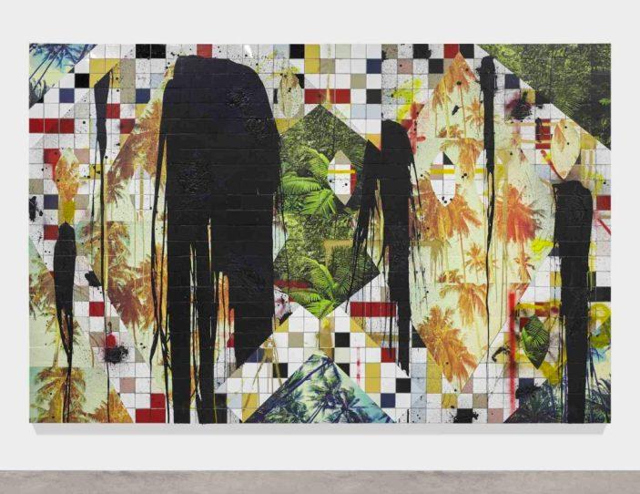 拉希德·約翰遜(Rashid Johnson)2016年無題逃生拼貼©藝術家禮貌豪瑟與沃斯