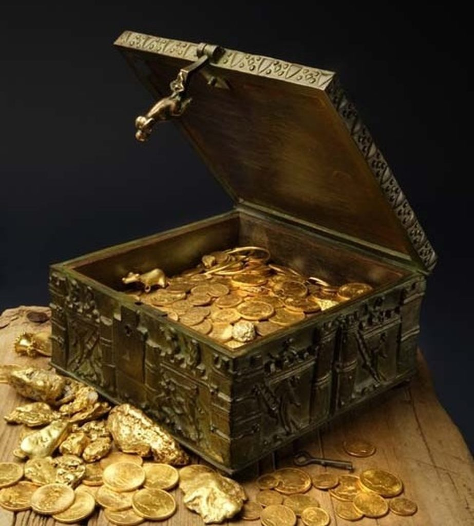 Forrest Fenn's treasure is allegedly in an ornate, Romanesque box filled with gold nuggets, gold coins and other gems. Courtesy of Forrest Fenn.
