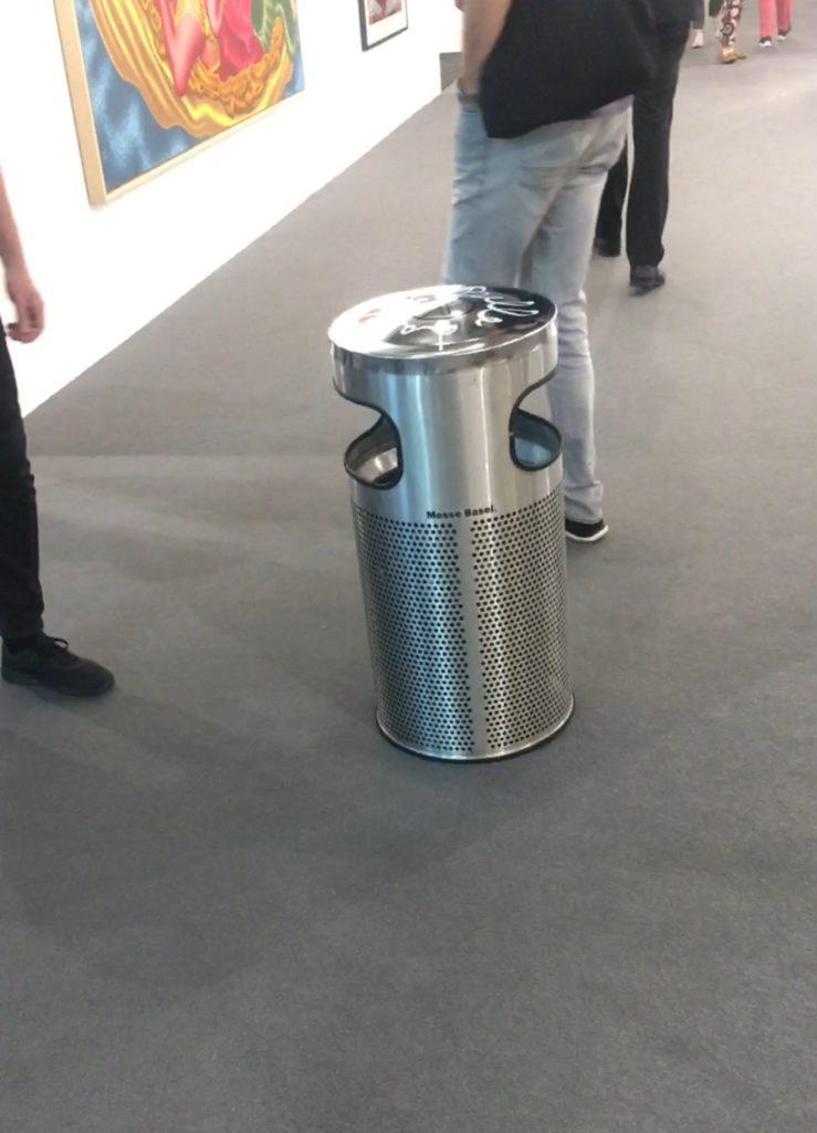 Massimo Agostinelli's impromptu work at Art Basel. Courtesy Massimo Agostinelli