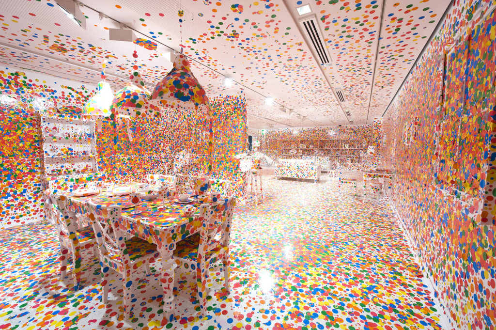 Yayoi Kusama, The Obliteration Room (2002). Courtesy of the Queensland Art Gallery Foundation/QAGOMA Photography. © Yayoi Kusama.