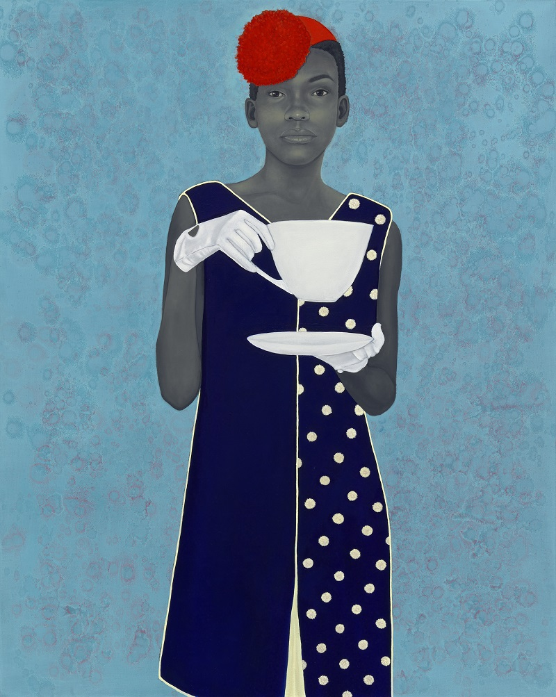 Amy Sherald's Miss Everything (Unsuppressed Deliverance) (2013). Image Frances and Burton Reifler © Amy Sherald. Courtesy of the National Portrait Gallery.