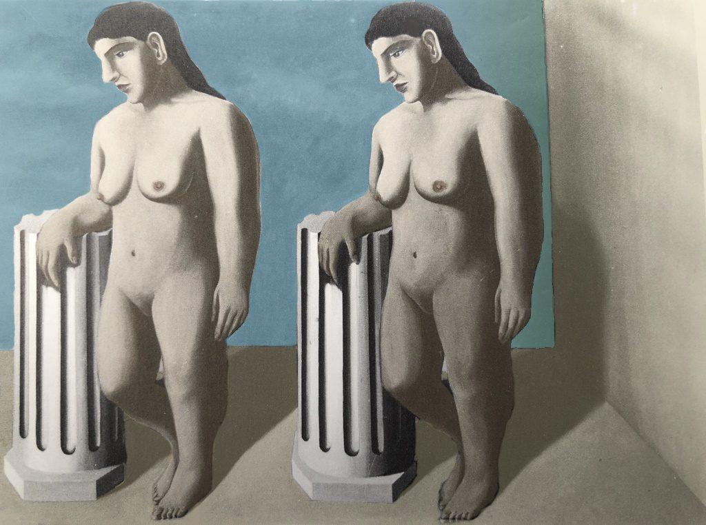René Magritte, The Enchanted Pose with restored colors. © Succession René Magritte c/o SABAM © ULiège.