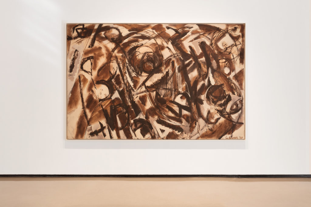 Lee Krasner, <em>Seeded</em> (1960), installation view. © 2017 The Pollock-Krasner Foundation/Artists Rights Society (ARS), New York. Photo courtesy of Paul Kasmin Gallery.