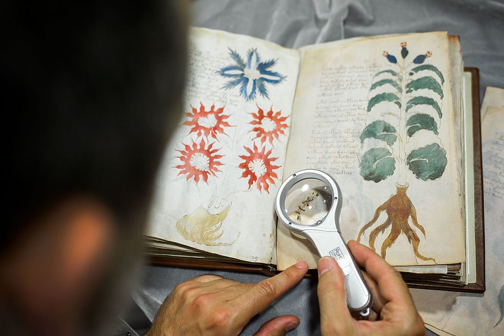 The Voynich manuscript has baffled scholars for centuries. Photo by Cesar Manso/AFP/Getty Images.