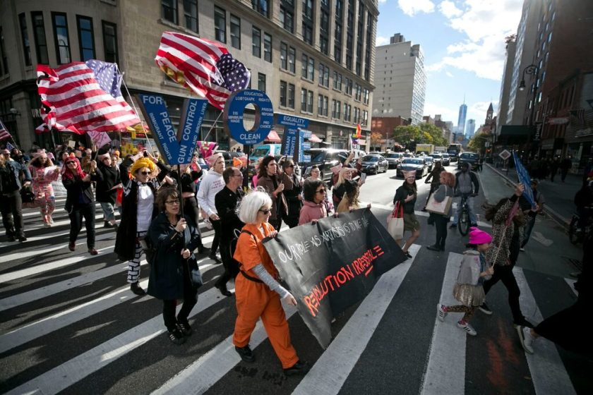 Michele Pred's We Vote Parade. Photo by Pontus Hook.