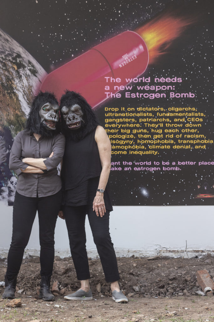 Guerrilla Girls, installation view at Kochi-Muziris Biennale 2018. Courtesy of Kochi Biennale Foundation.